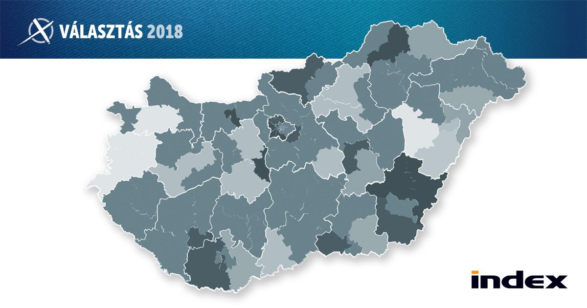 c7887d83d3c2 Index - Belföld - Választás 2018 - Térkép