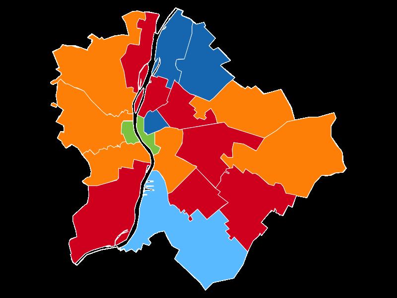 választókerületi térkép budapest Index   Belföld   Választás 2018   Egyéni választókerületek választókerületi térkép budapest